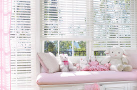 Hunter Douglas White Wood Blinds