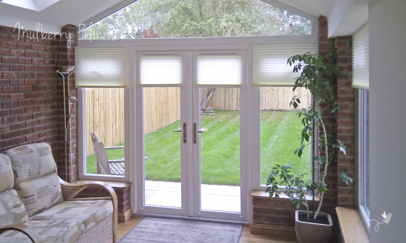 Conservatory blinds stokesley middlesbrough mulberry blinds watermark conservatory duette blinds cream 1 solutioingenieria Image collections