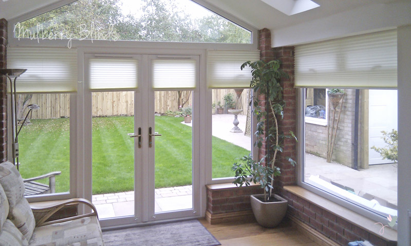 Conservatory blinds stokesley middlesbrough mulberry blinds watermark conservatory duette blinds cream 2 solutioingenieria Image collections