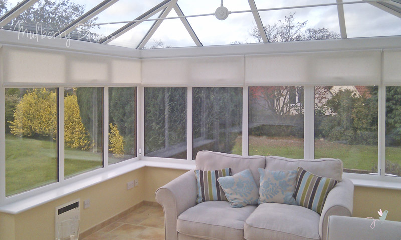 Conservatory blinds stokesley middlesbrough mulberry blinds watermark conservatory roller blinds cream 1 solutioingenieria Image collections